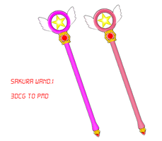 MMD Sakura Wand DOWNLOAD by MMDFakewings18