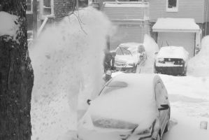 2015 January Blizzard, Snow Blowing 3 by Miss-Tbones