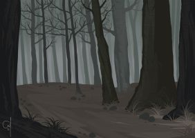 Creepy Forest by OGARart