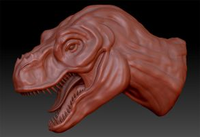 Speed Sculpt - Tyrannosaurus by LaJolly
