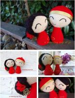 Chinese Wedding Dolls by amorningcupofjo