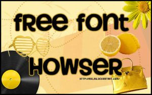 Howser Font by aNiLaU