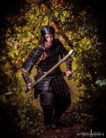 Samourai in armor * Leather craft * by IsilWorkshop