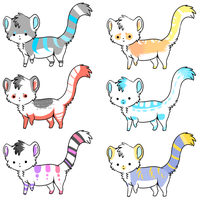 Cat adopts!(#6 left!) by Lodidah
