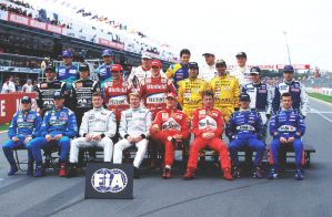 1999 Drivers' Group Photo (Australia) by F1-history