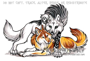 Funeral Of Hearts Wolf Commish by WildSpiritWolf
