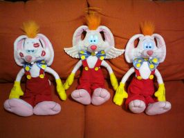 My three Roger Rabbit customs by bunnyfriend