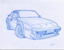 Porsche 944 by WriteNRun