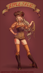 Vintage Applejack humanization by sparrow-chan