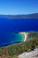 Lake Tahoe and Sand Harbor on a Sunny Day by sellsworth