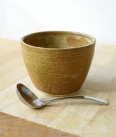 sauce bowl glazed in brown by scarlet1800