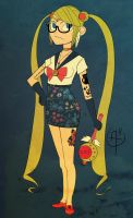 Sailor Hipster Moon by zacharybrite