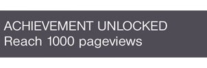Reaching 1000 Pageviews by DeCLaRcK