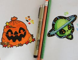 Upcoming Pin and Patch Designs by loveandasandwich