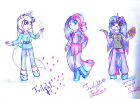 All generations of Twilight by lillyflover