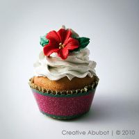 Xmas Flower Faux Cupcake 01 by CreativeAbubot