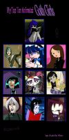My top 10 Goth Girls by Nicktoons4ever