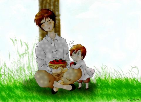 Spain, Romano and tomatoes by Nihui