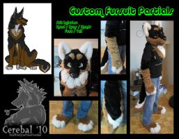 .: CUSTOM FURSUIT PARTIAL :. by Cerebal