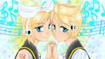 Rin and Len by doll-fin-chick