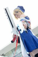 Destroy enemy,Noel cosplay, BlazBlue by Giuzzys