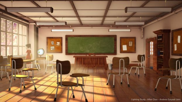 After Class (Lighting Study) by Androgs