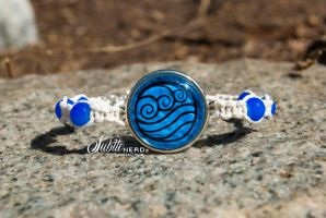 Water Tribe Bracelet by zeldalilly