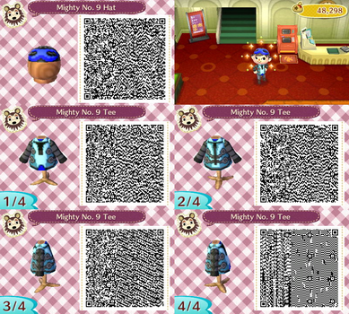 Mighty No. 9 Costume (ACNL) by Diggeh