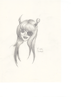 Homestuck Vriska pencil sketch by TheLearningArtist