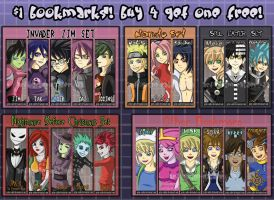 Bookmarks for Sale by Grim-Raider
