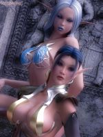 Mirella and Thy'ala by FantasyErotic