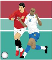 Cristiano Ronaldo and Diarra by parka