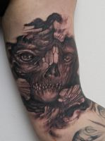 monster on inner arm by graynd