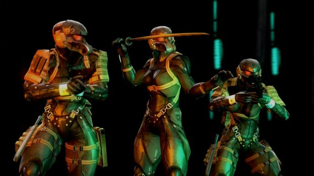 [GMOD] MGS4 Female Haven Troopers by Solidfreak123