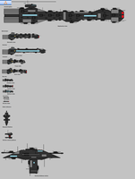 Ships of Triarch Industries by EmperorMyric