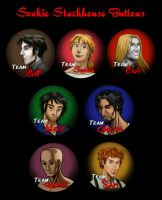 Sookie Stackhouse buttons by thenumber42