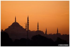 Sunset at Istanbul by Slolv