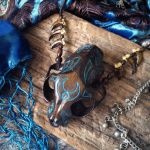Turquoise Cat Spirit Necklace by Elorhan