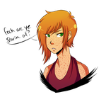 angry irish woman by kouchella