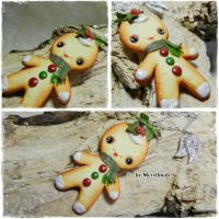 Cookie man necklace for sale by oOMetalbrideOo