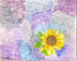 Watercolor Sunflower by RytheArtist