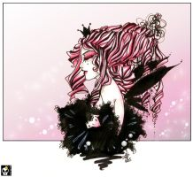 . pink fairy queen . by karincoma