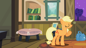 Applejack with Background Vector by Kamyk962