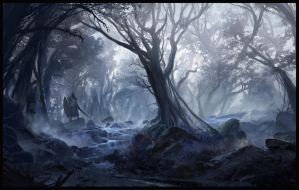 Misty Forest by SebastianWagner