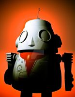 Retro Cropped Toy Robot 01 by sicklilmonky