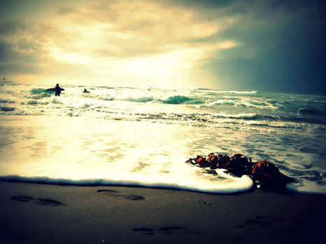 Beach and Surf by NatuInPorcelain