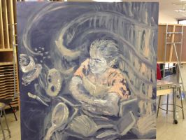 another painting project from class by HikaruisAves