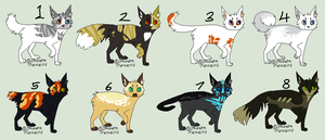 Adopts. 2 (CLOSED) by JocastaTheWeird