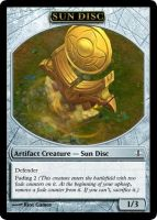 MtG - Sun Disc Token by soy-monk