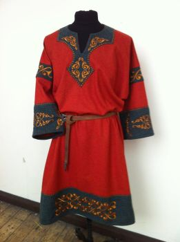 Celtic Tunic Orange and Teal by RobynGoodfellow